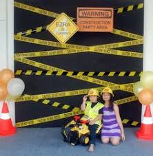 Construction Party Centerpieces by Construction Truck Boy U0027s Birthday Party Theme Party Invitations