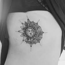 sun and moon hip design sun and moon feminine tattoos