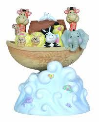 amazon com precious moments rocking noah u0027s ark musical figurine
