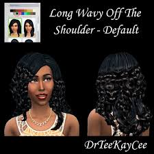 the sims 4 natural curly hair 2 long wavy hairs by drteekaycee at sim culture nation sims 4 updates