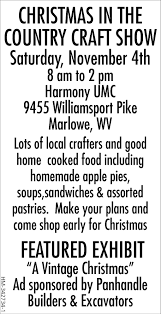 christmas in the country craft show panhandle builders and