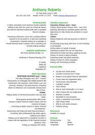 graduate financial advisor cv sample how to write a cv