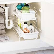 Bathroom Drawer Organizer by Sliding 2 Drawer Organizer The Container Store