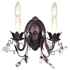 Copper Wall Sconce Lights Hampton Bay 2 Light Tuscan Copper Wall Sconce Y35041 163 The