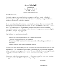 beautiful sample cover letter for team leader position 18 with