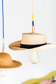 Paper Pendant Lights Hat Brat How To Make A Unique Diy Pendant Light With A Hat