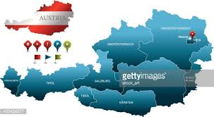 austria map vector austria vector map vector getty images