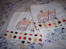 vintage embroidered dish towels towel