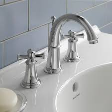 portsmouth 2 handle 8 inch widespread high arc bathroom faucet