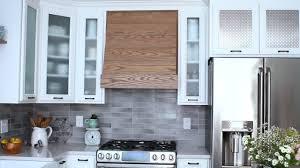 modern kitchen hood decor natural wood custom range hoods for cool kitchen decoration