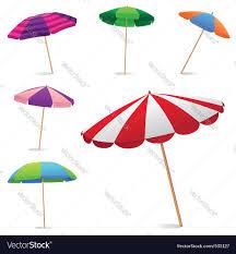 Beech Umbrella Beach Umbrella Royalty Free Vector Image Vectorstock