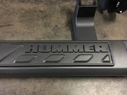 2009 2010 hummer h3t smoke grey running boards nerf step rails new