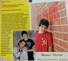yearbook from my high school i recently found out that aleks went to my high school this is
