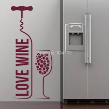 online buy wholesale wine wall from china wholesalers love wine bottle glass wall art stickers decal home diy decoration decor mural removable