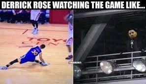 Derrick Rose Injury Meme - nba memes on twitter derrick rose seeing steph curry s injury