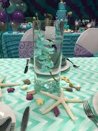 mermaid baby shower decorations mermaid centerpiece water vase and sea shells mermaid party