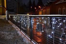 lichterkette fã r balkon 72 led lichterkette eisregen eiszapfen weiß außen