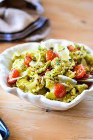 pasta with basil and pistachio pesto recipe chefdehome com