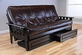 amazon com wooden futon storage drawers mission style espresso