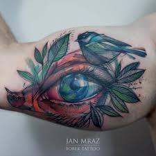 bird tattoo on arm black ink bird tattoo on half sleeve