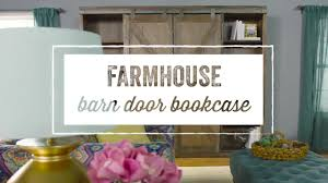 wood farmhouse barn door bookcase world market