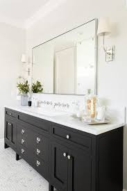 Bathroom Trough Sink Black Washstand With Trough Sink And Two Wall Mount Faucets