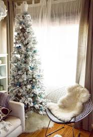 pretty looking skinny white christmas tree exquisite decoration