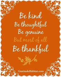 be present in all things and thankful for all things www