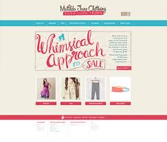 matilda jane clothing responsive website design and development