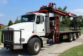 2005 kenworth fassi f390se 24 wallboard crane mounted to 2005 kenworth t800