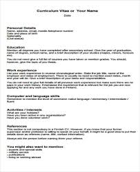 Formatting Education On Resume 31 Cv Format Templates Free U0026 Premium Templates