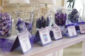 Candy Table For Wedding 35 Purple And White Wedding Candy Buffet Ideas Table Decorating