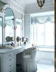 antique mirror powder room small rooms bathrooms round beveled