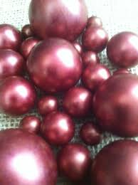 Fruit Vase Filler Burgundy Pearls For Floating Pearl Centerpieces Jumbo Pearls Vase