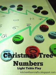 kitchen floor crafts christmas tree numbers for the light table