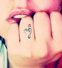treble clef formed with words tattoos pinterest treble clef