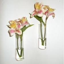 Hanging Glass Wall Vase Clear Glass Vase Hanging Vase Wall Pocket By Gardenstateglasswork
