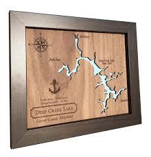 5th anniversary gift 5th anniversary gift laser cut wood lake map any lake wood