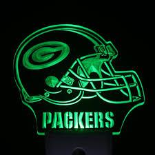 green bay packers lights ws0166 green bay packers helmet day night sensor led night light
