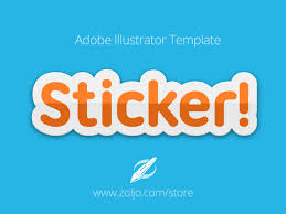 sticker text illustrator free template graphics web store