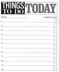 10 printable to do list templates excel templates