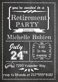 Graduation Invite Cards Chalk Board Teacher Retirement Invitations Teacher Retirement