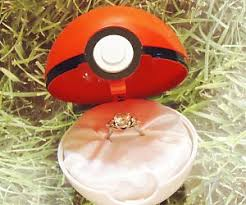 pokeball engagement ring engagement ring box