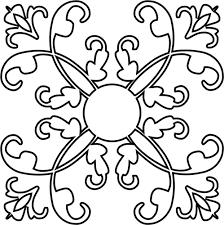 ornamental flourish design silhouette 2 domain vectors