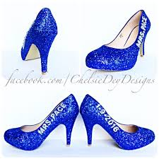 silver and royal blue wedding glitter high heels royal blue and silver pumps wedding name