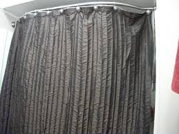 Shower Curtain Ideas For Small Bathrooms Decorating Striped Shower Curtains With Curved Curtain Rod For