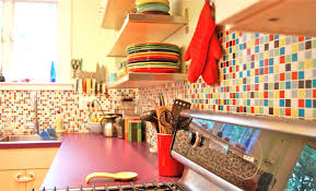 Colorful Kitchen Backsplashes Kitchen Colorful Kitchen Ideas Playing With Backsplashes Colors