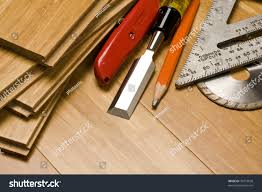 wood tools various woodworking tools sitting on hardwood stock photo 79374658