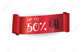 discount ribbon sale discount ribbon banner curved ribbon label on white