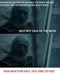 White Walker Meme - the shocked white walker new reaction face by winternet meme